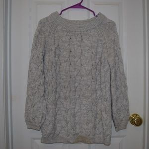 Sweaters - Thick Winter Chunky Warm Cream Cable Knit Sweater